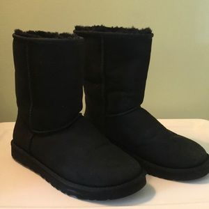 Black Genuine Sheepskin Uggs